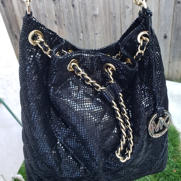 Michael Kors Handbags - Michael Kors Black Sequin Purse
